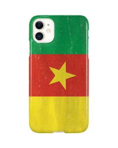 Cameroon Flag Distressed iPhone 11 Lite Case