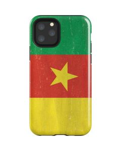 Cameroon Flag Distressed iPhone 11 Pro Impact Case