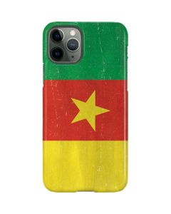Cameroon Flag Distressed iPhone 11 Pro Lite Case