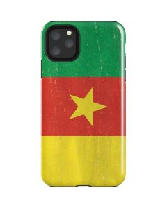 Cameroon Flag Distressed iPhone 11 Pro Max Impact Case