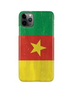 Cameroon Flag Distressed iPhone 11 Pro Max Lite Case