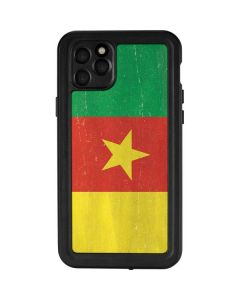Cameroon Flag Distressed iPhone 11 Pro Max Waterproof Case
