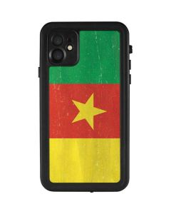 Cameroon Flag Distressed iPhone 11 Waterproof Case