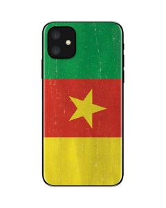 Cameroon Flag Distressed iPhone 11 Skin