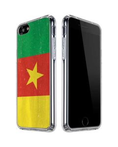 Cameroon Flag Distressed iPhone SE Clear Case