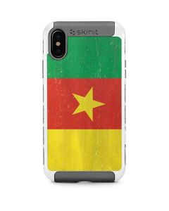 Cameroon Flag Distressed iPhone X/XS Cargo Case