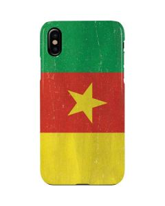 Cameroon Flag Distressed iPhone XS Max Lite Case