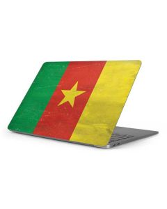 Cameroon Flag Distressed Apple MacBook Pro 16-inch Skin