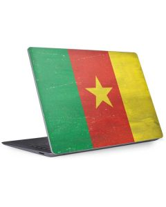 Cameroon Flag Distressed Surface Laptop 3 13.5in Skin
