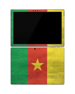 Cameroon Flag Distressed Surface Pro 7 Skin