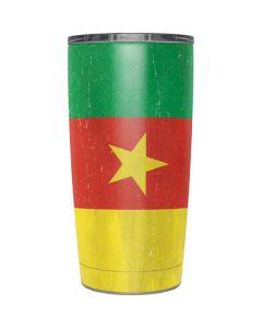 Cameroon Flag Distressed Yeti 20oz Tumbler Skin