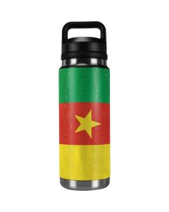 Cameroon Flag Distressed YETI Rambler 26oz Bottle Skin