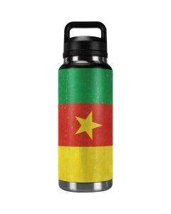 Cameroon Flag Distressed YETI Rambler 36oz Bottle Skin