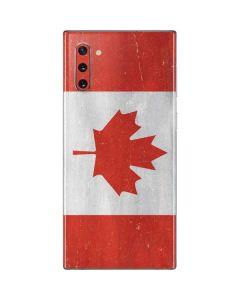 Canada Flag Distressed Galaxy Note 10 Skin