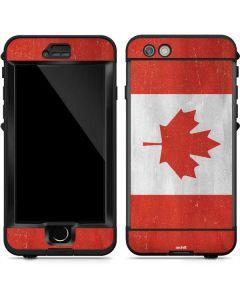 Canada Flag Distressed LifeProof Nuud iPhone Skin