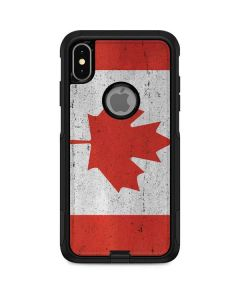 Canada Flag Distressed Otterbox Commuter iPhone Skin