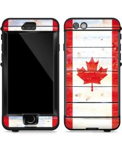 Canada Flag Light Wood LifeProof Nuud iPhone Skin