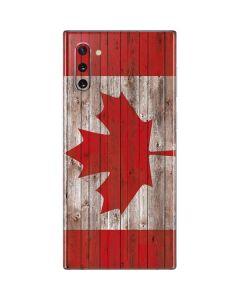 Canadian Flag Dark Wood Galaxy Note 10 Skin