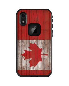 Canadian Flag Dark Wood LifeProof Fre iPhone Skin