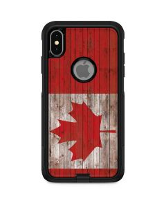 Canadian Flag Dark Wood Otterbox Commuter iPhone Skin