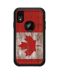 Canadian Flag Dark Wood Otterbox Defender iPhone Skin