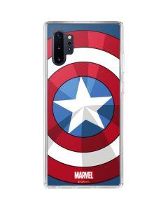 Captain America Emblem Galaxy Note 10 Plus Clear Case
