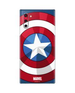 Captain America Emblem Galaxy Note 10 Skin