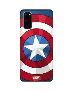 Captain America Emblem Galaxy S20 Skin