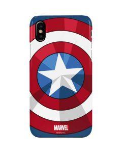 Captain America Emblem iPhone XS Max Lite Case