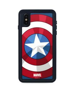 Captain America Emblem iPhone XS Max Waterproof Case