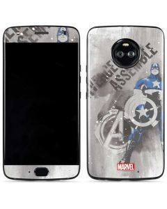 Captain America is Ready Moto X4 Skin