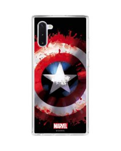 Captain America Shield Galaxy Note 10 Clear Case