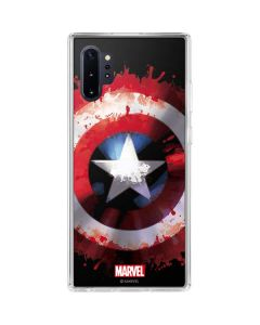 Captain America Shield Galaxy Note 10 Plus Clear Case