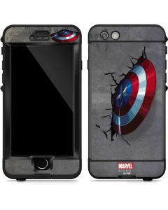 Captain America Vibranium Shield LifeProof Nuud iPhone Skin