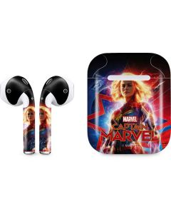 Captain Marvel Carol Danvers Apple AirPods Skin