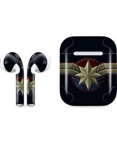 Captain Marvel Emblem Apple AirPods Skin