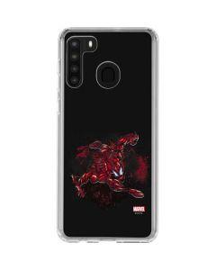 Carnage Splatter Galaxy A21 Clear Case