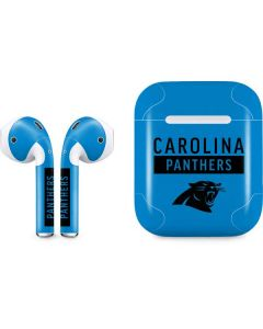 Carolina Panthers Blue Performance Series Apple AirPods Skin