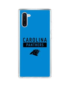 Carolina Panthers Blue Performance Series Galaxy Note 10 Clear Case