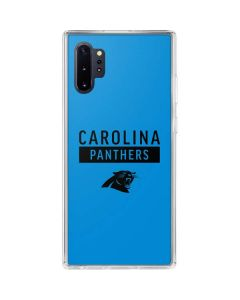 Carolina Panthers Blue Performance Series Galaxy Note 10 Plus Clear Case