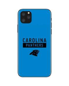 Carolina Panthers Blue Performance Series iPhone 11 Pro Max Skin