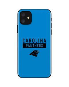 Carolina Panthers Blue Performance Series iPhone 11 Skin