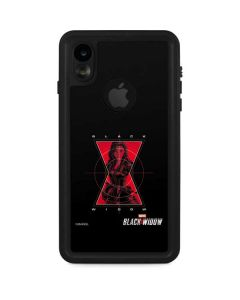 Black Widow Logo iPhone XR Waterproof Case