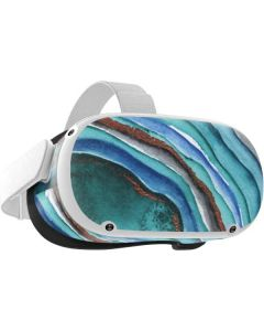 Turquoise Watercolor Geode Oculus Quest 2 Skin