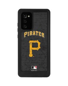 Pittsburgh Pirates - Solid Distressed Galaxy Note20 5G Waterproof Case