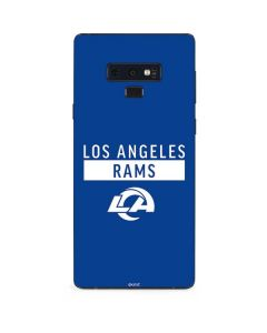 Los Angeles Rams Blue Performance Series Galaxy Note 9 Skin
