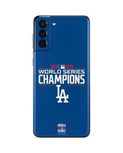 2020 World Series Champions LA Dodgers Galaxy S21 Plus 5G Skin