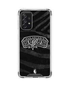 San Antonio Spurs Black Animal Print Galaxy A72 5G Clear Case