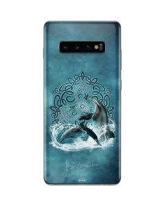 Celtic Dolphin Galaxy S10 Plus Skin