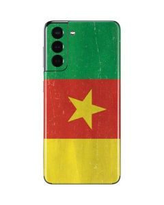 Cameroon Flag Distressed Galaxy S21 5G Skin